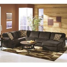 Vista 3-Piece Sectional in Chocolate | Nebraska Furniture Mart