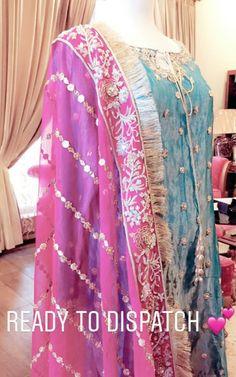 By zainab ather Stylish Dresses, Nice Dresses, Fashion Dresses, Girls Dresses, Dresses For Work, Formal Dresses, Pakistani Wedding Outfits, Pakistani Dresses, Indian Outfits