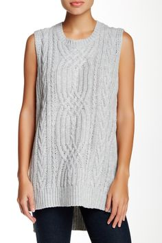 Side Slit Sleeveless Tunic Sweater by Cotton Emporium on @nordstrom_rack
