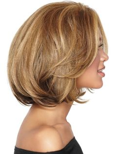 Medium Layered Hairstyle for thick hair 2