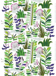 Marimekko fabric! It makes me want to make something... just not sure what.