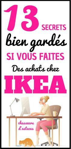 13 SECRETS (À Connaître) D'EMPLOYÉS DE CHEZ IKEA. Avec ces astuces, vous pourrez économiser du temps et de l'argent chez Ikea. Découvrons-les ensemble. #ikea #ikeahack #interieur #déco #décoration Home Organisation, Room Organization, Ikea Family, Ikea Hack, Decoration, Home Projects, Budgeting, Diy And Crafts, Life Hacks
