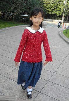 Блуза крючком ажурным узором для девочки. Обсуждение на LiveInternet…