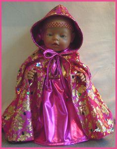 Gala jurk voor Babyborn baby born  www.poppenmode.com