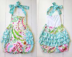 Southern Tots Floral Ruffle Bubble