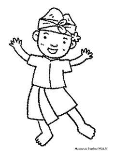 Contoh Gambar Mewarnai Baju Adat Untuk Anak Sd Kataucap