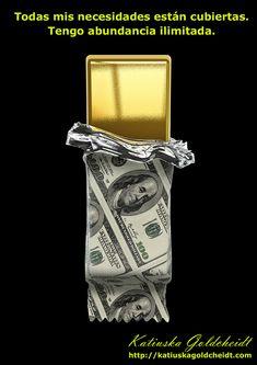 EL UNIVERSO ME REGALA TODO. Todos los proyectos que realizo son un éxito, soy reconocida y gano mucho dinero. El Dinero es mi regalo del UNIVERSO, recibo dinero en abundancia de todas partes...