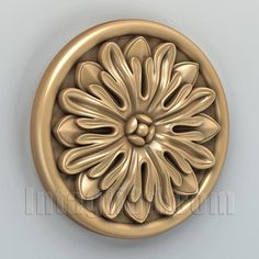 3D model for CNC routers and 3D printers (art. Round rosette 004)