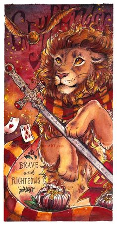 The Gryffindor bookmark, finished! Hurray! That's the last of the four! 8D GRYFFINDOR - House of the Lion Gryffindor is named after its courageous and noble founder Godric Gryffindor. He was one of...