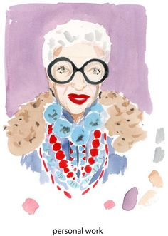 Iris Apfel - Illustration by Caitlin McGauley