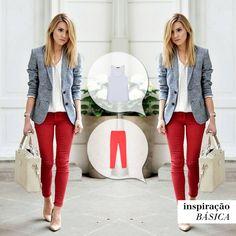 A peça colorida que se destaca! Tem opção melhor pra dar vida ao look? #inspiraçãobásica #lookinspiração #calçacartagena #regatabásicamonaco #look #fashion #girl #girly