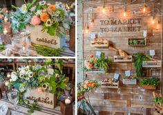 20 Farmer's Market Wedding Details: Fruit & Vegetable Table Names… Fruit Wedding, Wedding Table, Wedding Flowers, Sangria Blanca, Craft Day, Farm Birthday, Blush Flowers, Wedding Details, Wedding Ideas