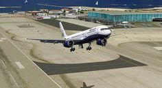 FS2004: Monarch Boeing 757-200 Takeoff at Gibraltar     For great tips on  flight simulation games check out www.flightsimulatoronlinegame.com