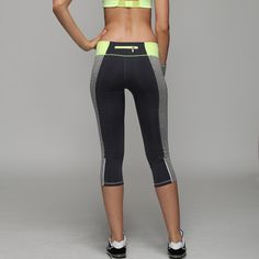 Sexy Gym Women Sport Leggings Fitness Trousers Strength Sports Pants Capri Reflective Night Running Sport Jeggings Sweatpants