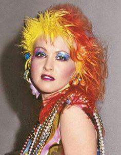 80s Makeup, Retro Makeup, Hair Makeup, Cyndi Lauper Costume, Cindy Lauper 80s, Divas Pop, 80s Pop Music, 80s Trends, The Wedding Singer