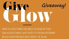Give Glow This Summer – Beauty Products For A Sun-Kissed Glow #Giveaway