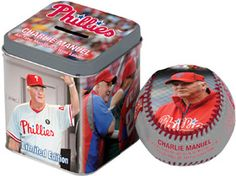 Charlie Manuel Commemorative Baseball. Giveaway for children 14 & under on April 14 during Turkey Hill Kids' Opening Day!