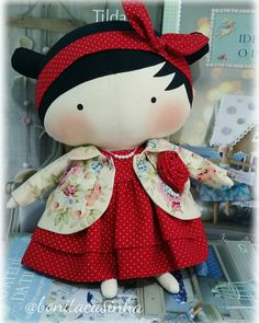 Tilda Sweetheart doll medindo 30cm. Boneca de Pano Arte. Tilda. Artesanato. Decoração