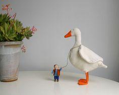 Nils Holgersson PDF pattern, DIY baby decor, nursery decor, mother's day gift, waldorf pattern