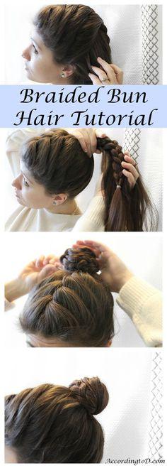 Braided Bun Hair Tutorial - Quick and easy hair tutorial for on the go women