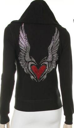 $39.99 Restocked!! Angel Wing with Heart Hoodie, All sizes Small- 3XL find here: http://stores.ebay.com/The-Stylish-Boutique/_i.html?_nkw=angel+wings+hoodie+&_cqr=true&_nkwusc=angel+wqings+hoodie&_sid=544253133&_rdc=1