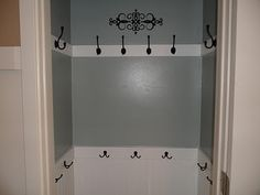 Coat Closet- good substitute for a mud room, people are more likely to hang up coats and purses/ bags if they don't actually have to go on a hanger.