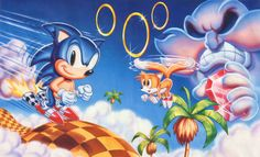 sonic vs dr robotnik | ... Sonic, Tails and Dr. Ivo Robotnik (Dr. Eggman) art from SONIC CHAOS