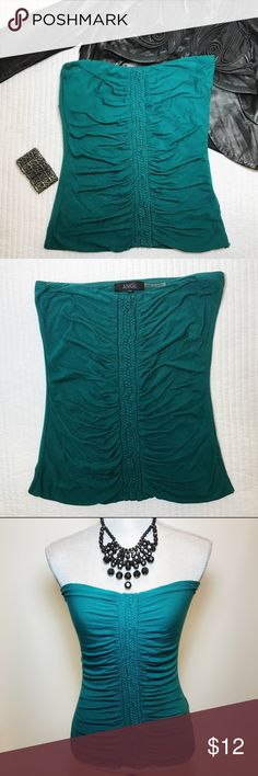 ANGL Teal Tube Top NWOT in M ANGL Teal Tube Top New without tag! Size M. Beautiful detail down the front of the top. ANGL Tops