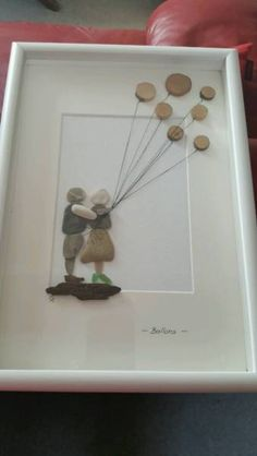I made this beautiful picture from beach stones myself. The Ste . Sea Glass Beach, Beach Stones, Stone Pictures, Couple Beach, Pebble Art, Rock Art, Balloons, Beautiful Pictures, Frame