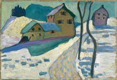peira:  Gabriele Münter: Winterlandschaft (1909)