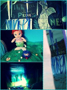 Under the sea! Cute way to have been asked to prom