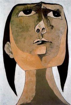 work of Guayasamín, the most prominent modern artist of Ecuador. Homenaje a Tania nº 2. 1969. Quito.