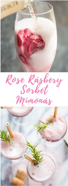 Raspberry Sorbet Mimosas are a fun cocktail for Mother& Day, bridal s. Rosé Raspberry Sorbet Mimosas are a fun cocktail for Mother's Day, bridal s.Rosé Raspberry Sorbet Mimosas are a fun cocktail for Mother's Day, bridal s. Cocktails Champagne, Beste Cocktails, Easy Cocktails, Cocktail Drinks, Cocktail Recipes, Brunch Drinks, Vodka Martini, Brunch Party, Rose Champagne