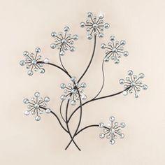 Acrylic-Beads-Floral-Flower-Bouquet-Metal-Sculpture-Wall-Art-Hanging-Home-Decor