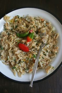 Chiquetaille de morue Haitian Food Recipes, Best Mexican Recipes, Ethnic Recipes, Senegalese Recipe, New Orleans Recipes, French Dishes, Island Food, Cooking Recipes, Healthy Recipes