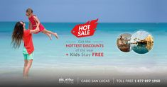 Summer isn't the only thing heating up south of the border. Get the hottest discounts of the year + kids stay free! Cabo San Lucas, South Of The Border, Resort Spa, Beach Resorts, Villa, Vacations, Summer, Kids, Arch