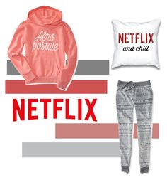 """""""Netflix,And Chill"""" by putrislsbl ❤ liked on Polyvore featuring Aéropostale, women's clothing, women's fashion, women, female, woman, misses and juniors"""