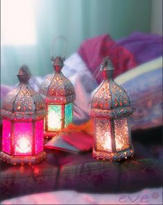♥ Perfect colors, I love lanterns too