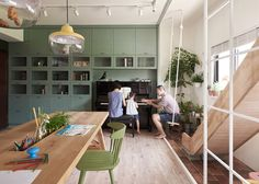 Family Playground – Interior Renovation by HAO Design Modern Interior Design, Interior Design Inspiration, Interior And Exterior, Creative Home, Interiores Design, Home Living Room, Home Remodeling, Home And Family, Interior Decorating
