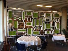 """Декорирование стен растениями. Мы сделаем интерьер """"живым""""! Corporate Interior Design, Corporate Interiors, Interior Design Living Room, Restaurant Concept, Restaurant Design, Vertikal Garden, Diy Room Divider, Partition Design, Moss Wall"""