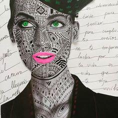 Tu fuerza está dentro de ti  #illustration #collage #cover #fashion #neon #ilustracion #moda