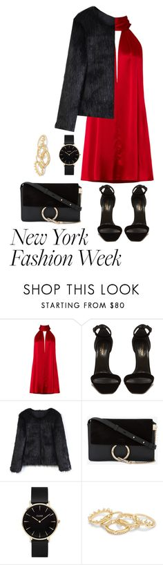 """New York Fashion Week"" by svs-selma-svs ❤ liked on Polyvore featuring Galvan, Yves Saint Laurent, Chicwish, Chloé and CLUSE"