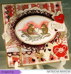 Valentinskarte für meinen Schatz mit House Mouse Design: http://nataschas-blog.blogspot.de/2016/02/house-mouse-and-friends-monday.html