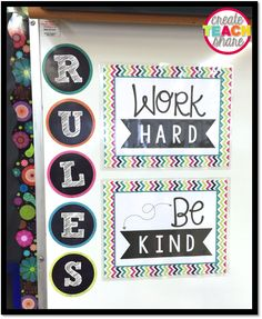 Black and Neon .... iTeach Fourth: 4th Grade Teaching Resources: 2 Simple Rules For the Upper Elementary Classroom