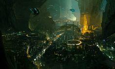 Eclipse Phase - Lunar Cave City by Hideyoshi.deviantart.com on @DeviantArt