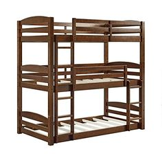 Dorel Living DL7891TBB Sierra Bunk Bed, Triple Bunkbed Do...