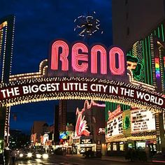 """Best Known For Adventure, Shopping, Entertainment, Nightlife. Best time of year: January-December. Dubbed """"The Biggest Little City in the World,"""" RENO is the gateway to adventure in Nevada. Reno's wide-open spaces in the shadow of the Sierra Nevada Mountains pack in daring pursuits like a rafting trip on the mighty Truckee River or a strategic game of poker in one of the city's flashy casinos. Activities and attractions aren't limited to the ground: The annual Great Reno Balloon Race..."""