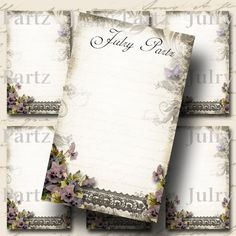 LE JARDIN VIOLET Earring Cards Jewelry cardsTent by JulryPartZ, $4.00