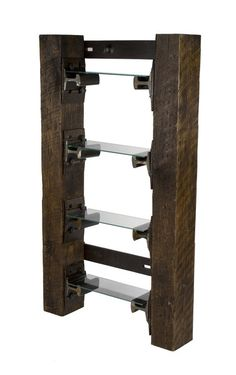 Manly decorating! Create your Dream Man Cave - bookshelf made from vintage railroad ties