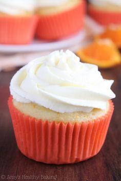 Skinny Orange Creamsicle Cupcakes